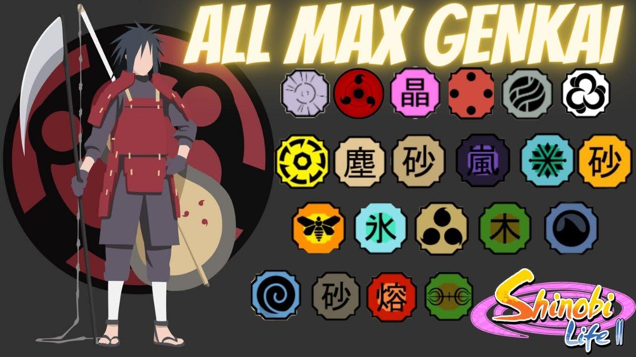 ALL Genkai Showcase! Shinobi Life 2 - YouTube