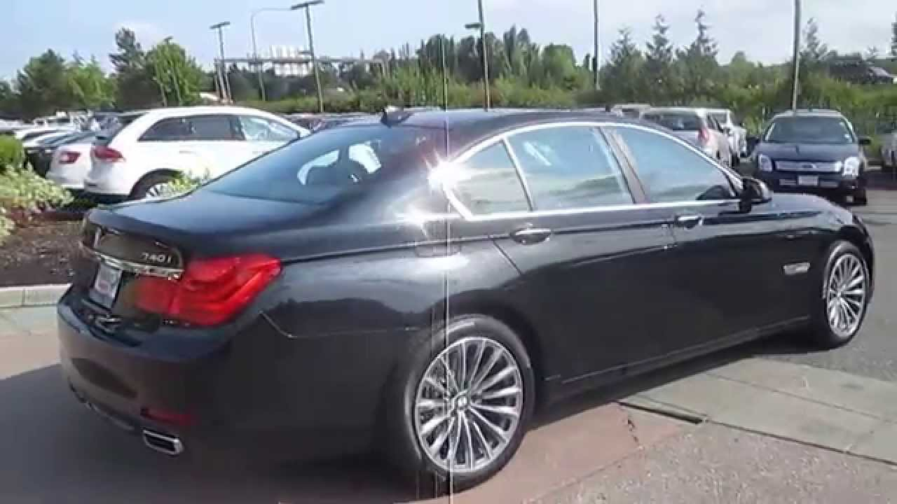 2012 bmw 740i black stock 15 2098a walk around youtube. Black Bedroom Furniture Sets. Home Design Ideas