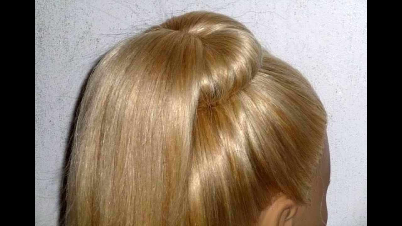 Причёска самой себе легкая