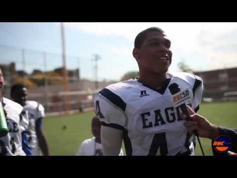 PSAL Football Eagle Academy II vs Evander Childs Highlights & Post-Game interviews