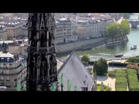 Gargoyles and Paris from top of Notre Dame Cathedral- Top Paris Attraction