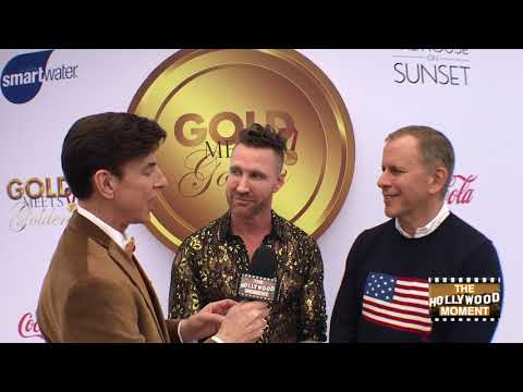 CHARLEY WALTERS AND SCOTT ORLIN Co Founders GOLD MEETS GOLDEN 2019 with The Hollywood Moment