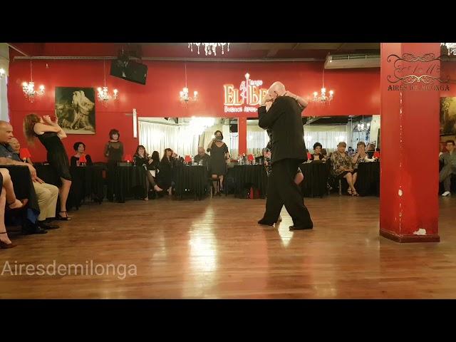 Maestros milongueros,   Tango exhibition,  Bill La Pantera y Ann Froud