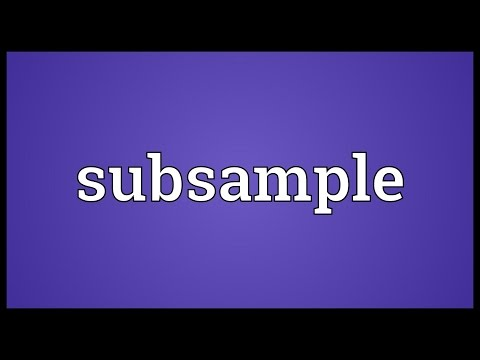 Header of subsample