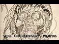 Fivefold Know It All Skull Drawing Headphones Time Lapse mp3