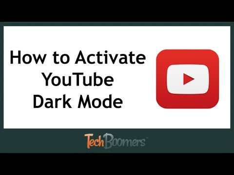 how to change youtube to night mode mobile