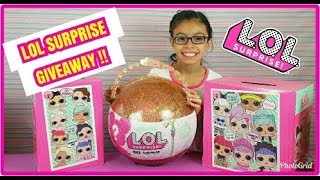 L.O.L BIG SURPRISE GIVEAWAY ANNOUNCEMENT AND RULES!!