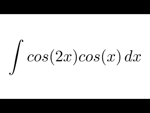 Integral of cos(2x)cos(x) (trigonometric identity ...