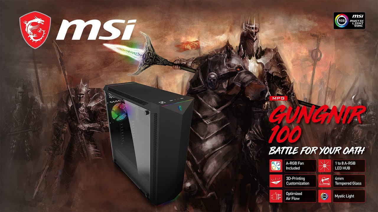 MSI MPG GUNGNIR 100 - Battle for Your Oath with Unlimited Customization  Options