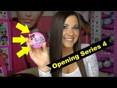LOL surprise Series 4 LIL SISTERS Decoder Dolls OPENING | unboxing lol surprise series 4 decoder