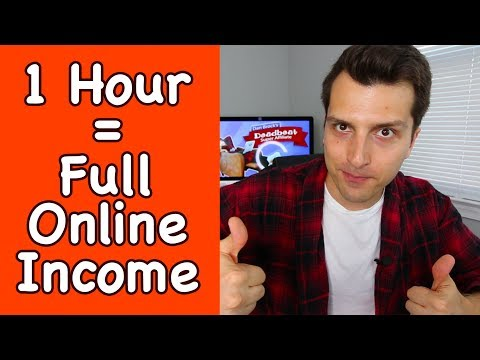 Make a Full Time Online Income w/ 1 Hour a Day Of Work?? LIVE Tips + Q&A