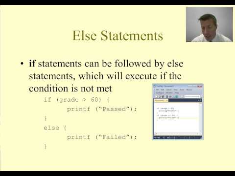 Intro to C Programming - Conditional Statements - if