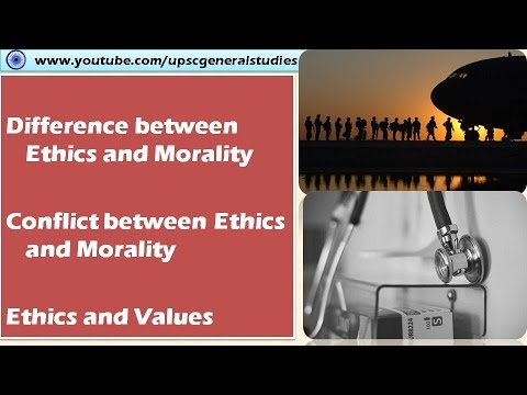 Differences and Conflict between Ethics and Morality: Ethics, integrity and aptitude