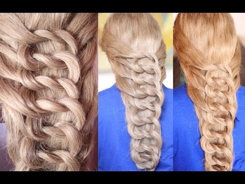 Rapunzel's Knotted Pretzel Ladder Inspired Hairstyle - YouTube