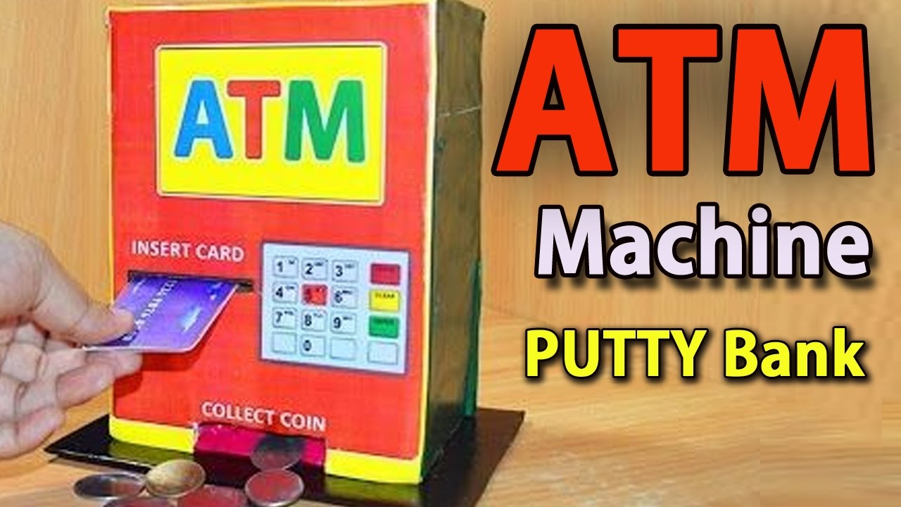 Tv Bank Diy How To Make Atm Machine At Home Diy Craft For Kids
