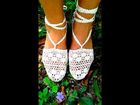 ¿Cómo hacer zapatillas de encaje?