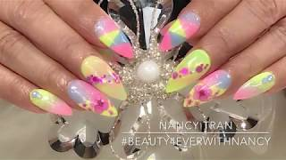 How to do easy Spring Nails with Dipping Powder.
