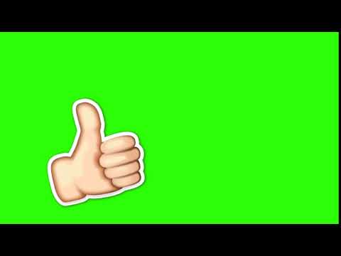 Футаж лайк и эмоджи на зелёном фоне