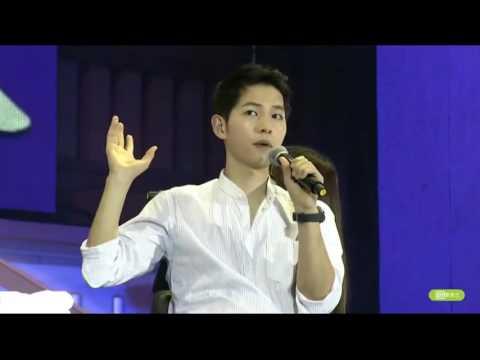 [ENGSUB] 160514 Song Joongki's Fanmeeting in Beijing - Talks about Song Hye Kyo & Yoo Ah In
