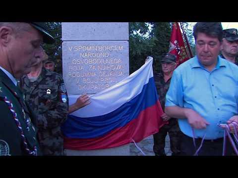 Dvigovanje slovenske zastave ob dnevu državnosti 2017