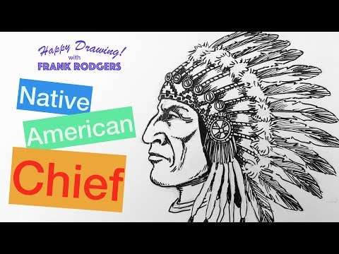 How To Draw A Native American Chief. Iconic Faces #8 Live Illustration With Frank Rodgers