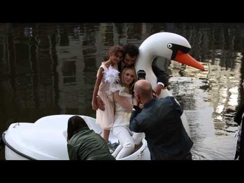 Bracha van Doesburgh en Marwan Kenzari in het huwelijksbootje