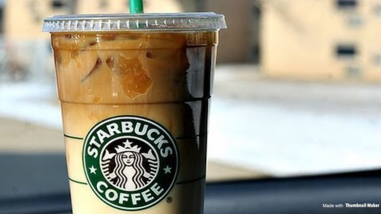 How To Make A Starbucks Iced Caramel Macchiato Latte Youtube