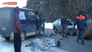 Лобовое столкновениевидеорегистратор) ДТП! Авария! Видеорегистратор