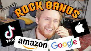 Gambar cover Redesigning large tech companies as Rock Bands! (Now on Spotify)