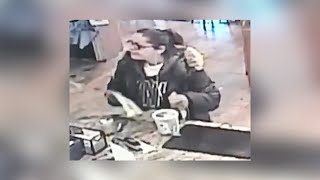 Surveillance footage of three tip jar thefts