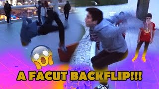 ORANGE BLUE FACE BACKFLIP !!!