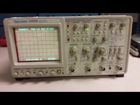 Tektronix 2465B TEST 04 FAIL 11, RAM Cal Constants LOST