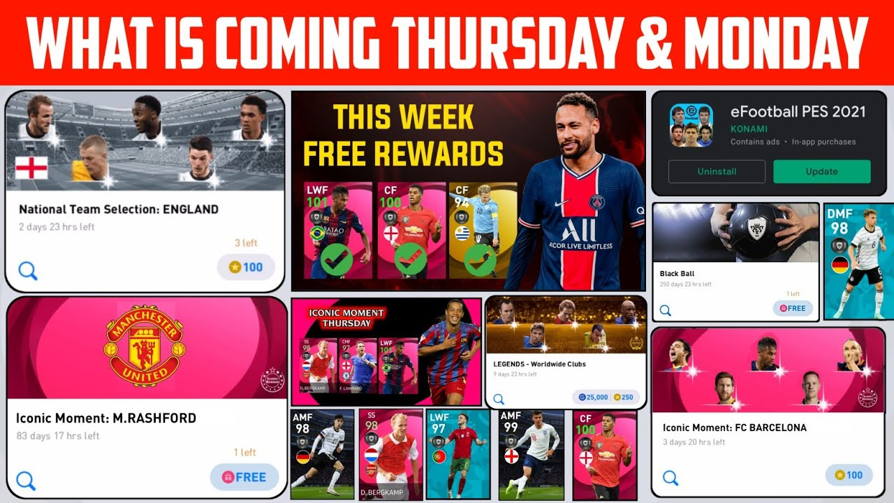 What Is Coming 24th June Thursday & Next Monday In Pes2021 | Free Rewards & Iconics