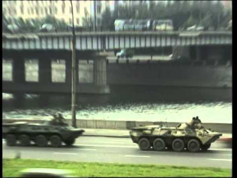 Soviet army enters Moscow 19.08.1991
