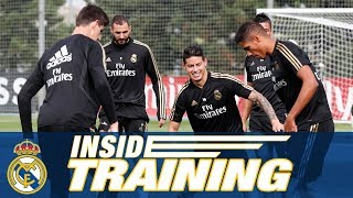 Real Madrid training session ahead of facing Sevilla