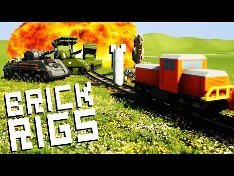 Indestructible LEGO TRAIN Destroys Army! - Brick Rigs Multiplayer