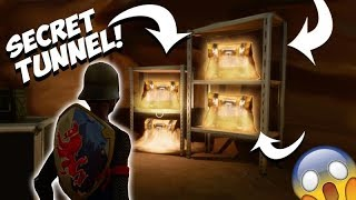 *NEW* SECRET TUNNEL BELOW TILTED TOWERS!! SECRET LOOT CHESTS!! (Fortnite Battle Royale)