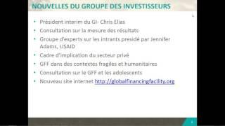 GFF: Briefing préparatoire avant la réunion du Groupe des Investisseurs