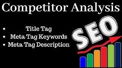 how to analyse competitors   Title Tag  Meta Tag Description Meta Tag Keywords  Onpage SEO - Boxput