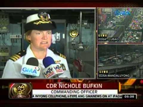 24 Oras: US Navy missile destroyer na USS Milius, nakadaong sa Maynila