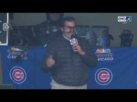 Chip Caray sings 'Take Me Out To The Ballgame' at Wrigley Field