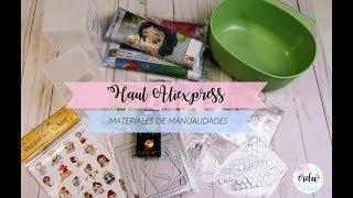 HAUL ALIEXPRESS || MATERIAL MANUALIDADES Y SCRAPBOOKING || DIY