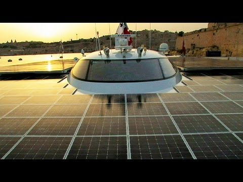 Solar Ship Sails Around the World