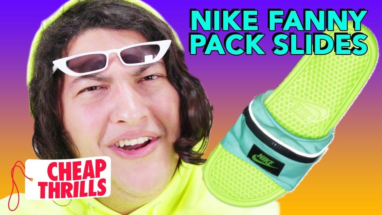 "D.I.Y. Nike Benassi ""Fanny Pack"" Slides   Cheap Thrills"