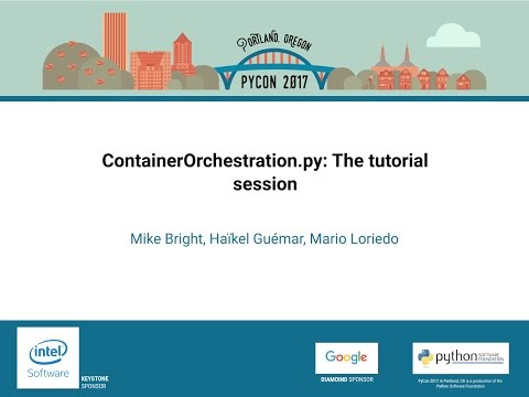 Image from ContainerOrchestration.py: The tutorial session