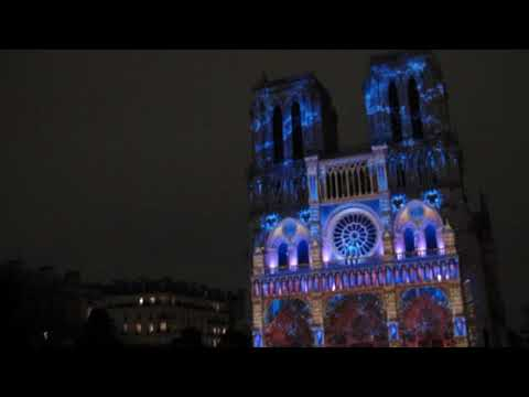 Sound and Light show, Notre Dame Cathedral, Paris
