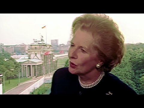 Jon Snow: Interview with Margaret Thatcher in Berlin