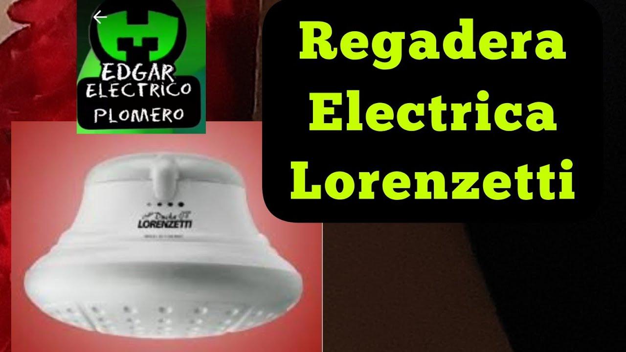 Regadera Eléctrica Lorenzetti RECOMENDACIONES de Instalacion Electrica #EdgarElectricoPlomero