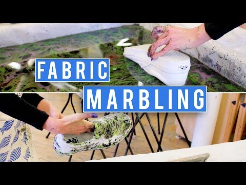 Fabric Marbling is Pure Magic