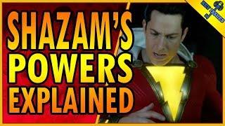 Shazam's Powers Explained